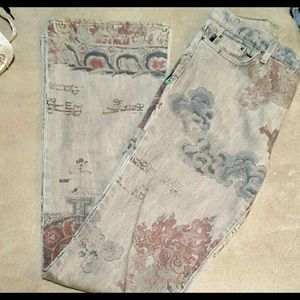 📿Just Cavali Jeans Asian Tapestry Print Tall📿